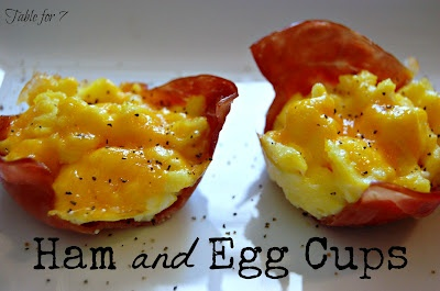 Ham & Egg Cups from Table for 7  Great for a quick breakfast!