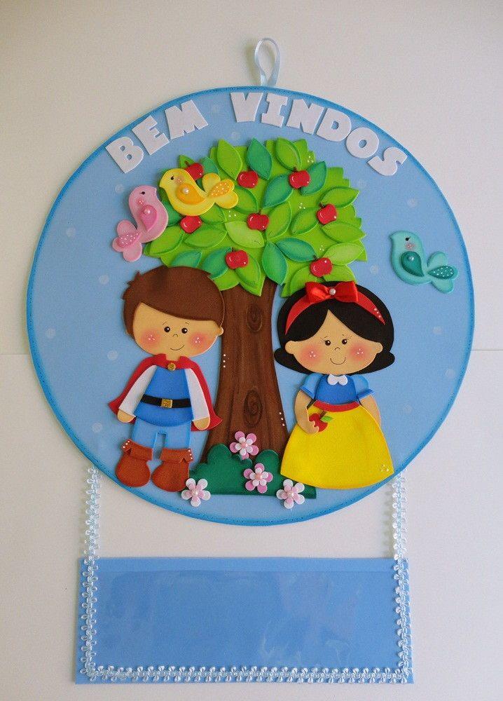 Placa para decorar porta de sala de aula em eva. Faço outras peças no tema.