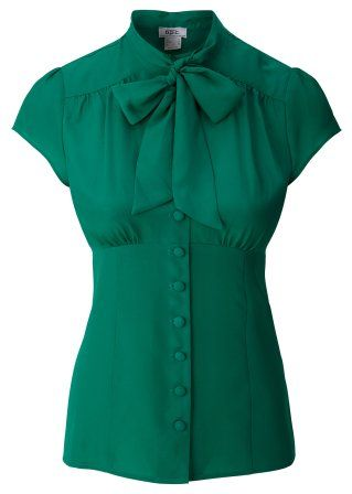 green blouse - bonprix