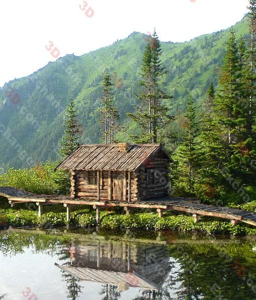 Old Rustic Cabins | 3D Model of Rustic Log Cabin By Mr Marat Shevchenko ( Browse This ...
