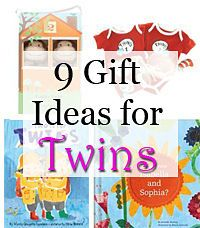 A great list of gift ideas for twin babies