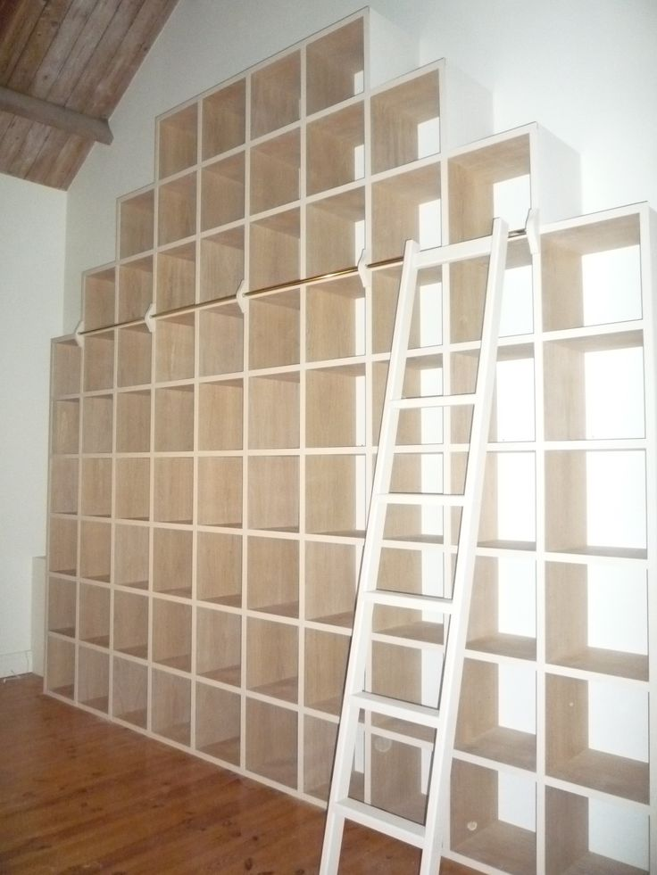 Is it so very wrong to break into a little Climb Every Mountain, every time I see this photo?  A stunning back wall of cube display shelving designed and fitted by Peter at Dunham Fitted Furniture to reflect the pitch of the lovely wooden roof.  Library ladder essential! www.dunhamfittedfurniture.co.uk