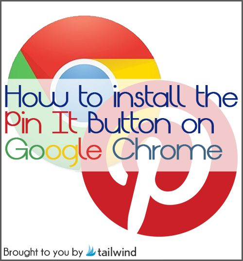 Pinterest Toolbar Chrome: Install the Pin It Button