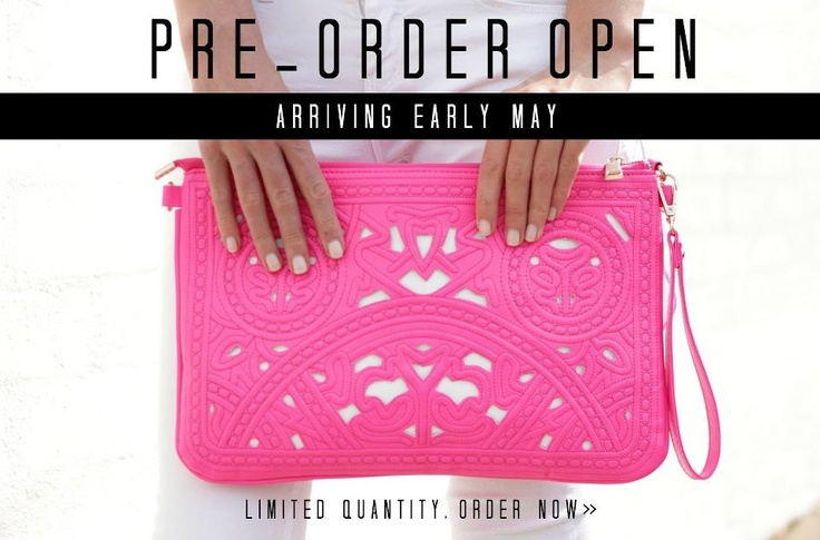 We have been flooded with preorders over the weekend for The Pink Clutch! Secure yours now at http://www.trendabelle.com/collections/accessories/products/pink-clutch