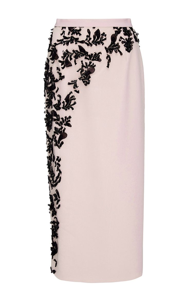 Embroidered Pencil Skirt - Bibhu Mohapatra Resort 2016 - Preorder now on Moda Operandi