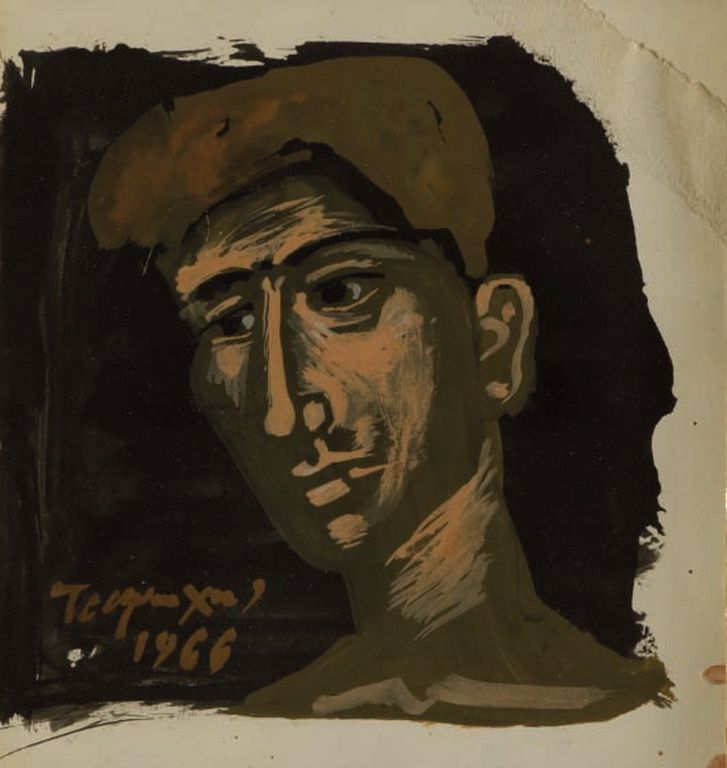 Head of a young man, 1966 by Yannis Tsarouchis