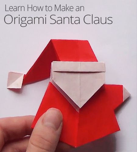 Looking for a fun, holiday art project? Learn how to fold yourself a festive Origami Santa Claus!