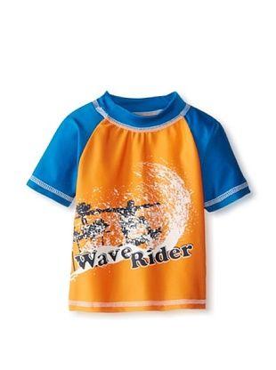 68% OFF Rugged Bear Baby-Boys Infant Wave Rider Rash Guard (Orange)