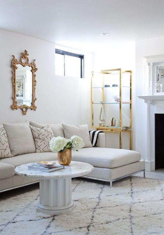 Moroccan Living Room with Rug | geometric-rug-moroccan-rug-black-