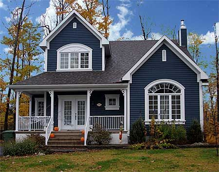 Plan 21370DR Attractive Country With Options Exterior Colors Paint