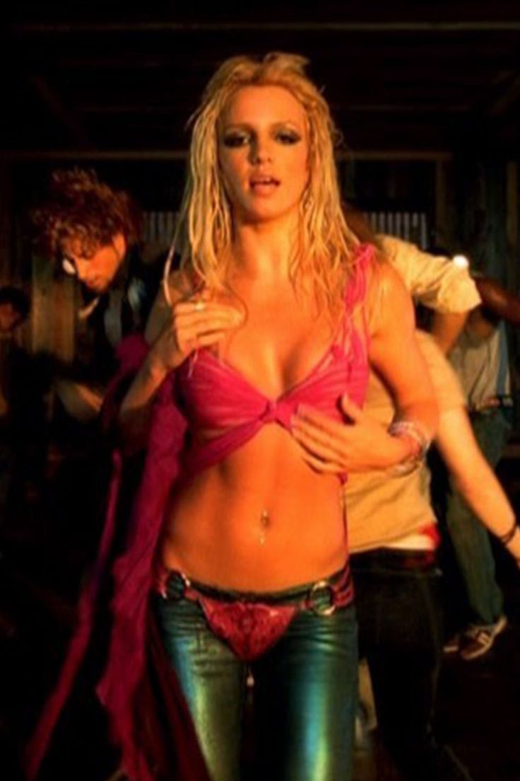 """Britney Spears' Undie Pants in """"I'm a Slave 4 U,"""" 2001 - ELLE.com"""