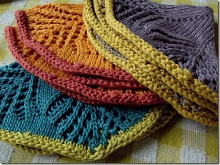 Knit Dishcloth Patterns Two Colors : 706 best images about Wash Cloths and Towels on Pinterest Free pattern, Dis...