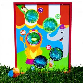 I think I can make a Toopy and Binoo board based on this one! Bean Bag Toss Game