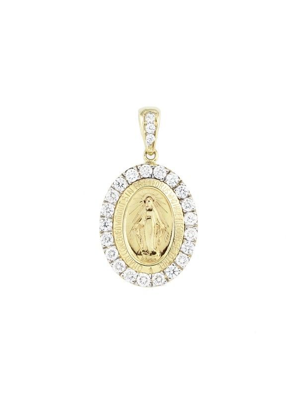 Sterling Silver Themed Jewelry Pendants /& Charms Solid 18 mm 23 mm Our Lady Of Guadalupe Medal