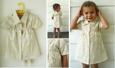 recycled shirt dress tutorial - this looks like a cute one though it would require me to learn how to use elasticized thread.