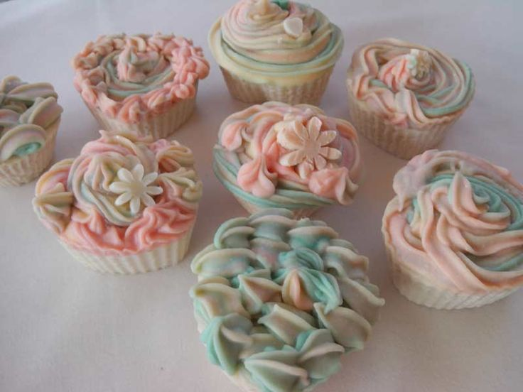 Cupcake soaps with grapefruit essential oil
