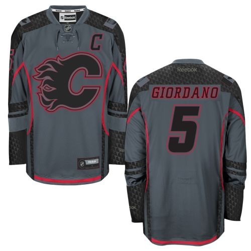 NHL Mark Giordano Calgary Flames Reebok Cross Check Premier Fashion Jersey - Storm