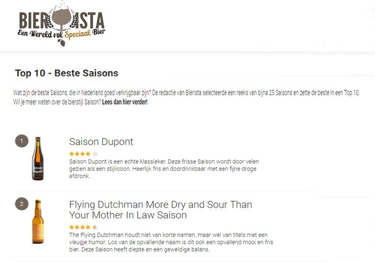 Top rating at Bierist in The Netherlands of our Saison. #beer #craftbeer #TheFlyingDutchmanNomad