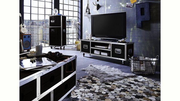 SIT TV-Lowboard »Dark Roadies«, Breite 140 cm, mit Aluprofilen und Rollen Jetzt bestellen unter: https://moebel.ladendirekt.de/wohnzimmer/tv-hifi-moebel/tv-lowboards/?uid=fb9f1643-0848-5aae-943c-b0ef7bb9bd33&utm_source=pinterest&utm_medium=pin&utm_campaign=boards #tvlowboards #wohnzimmer #tvhifimoebel