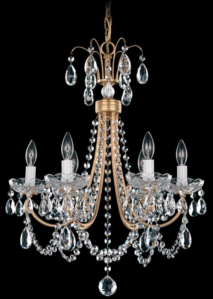 12 best annapolis lighting chandeliers images on pinterest schonbek wide 6 light candle style chandelier from the lucia collecti french gold indoor lighting chandeliers mozeypictures Images