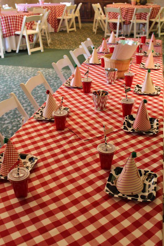 Barnyard Theme Birthday Party Hats Barnyard by CrowningDetails