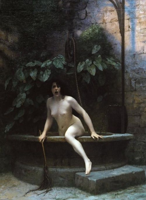 Jean-Leon Gerome - Truth coming out of a dwell