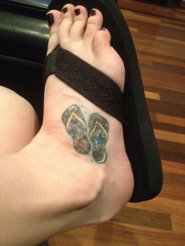 My flip flop tattoo for my barefoot lifestyle. | Tattoos ...