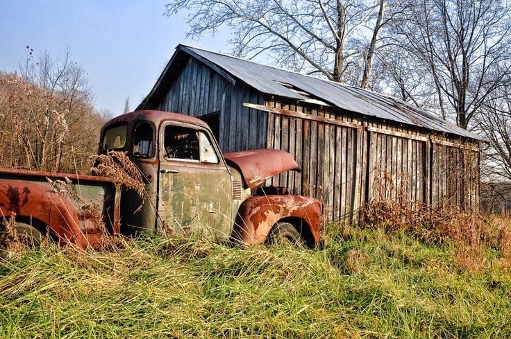Old Truck and Kentucky Barn