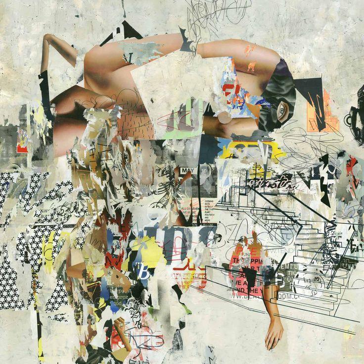 asha zero funni cable acrylic on board 164 x 205 cm 2016 / Joburg Art Fair 2016 / SMAC Gallery Booth http://www.smacgallery.com/exhibition/fnb-joburg-art-fair-2016/ #art #painting #artfair #smacgallery #joburgartfair #sandton #jhb #southafrica #contemporary art #artist #ashazero