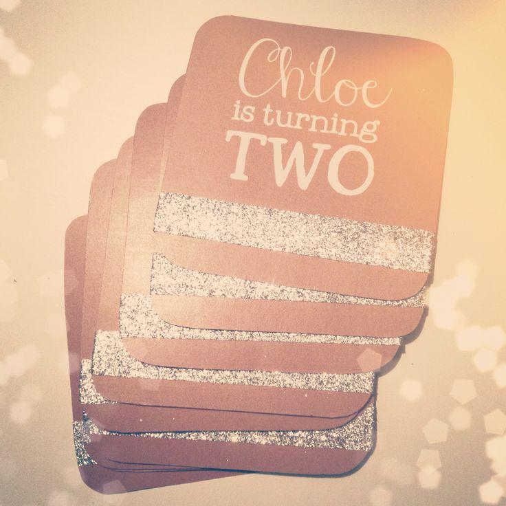 chloe's sparkle party invites.