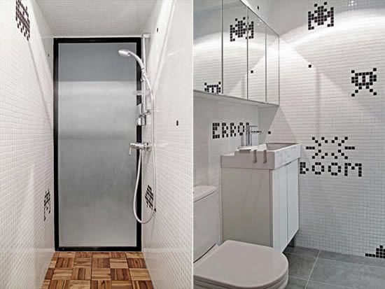 space invaders bathroom