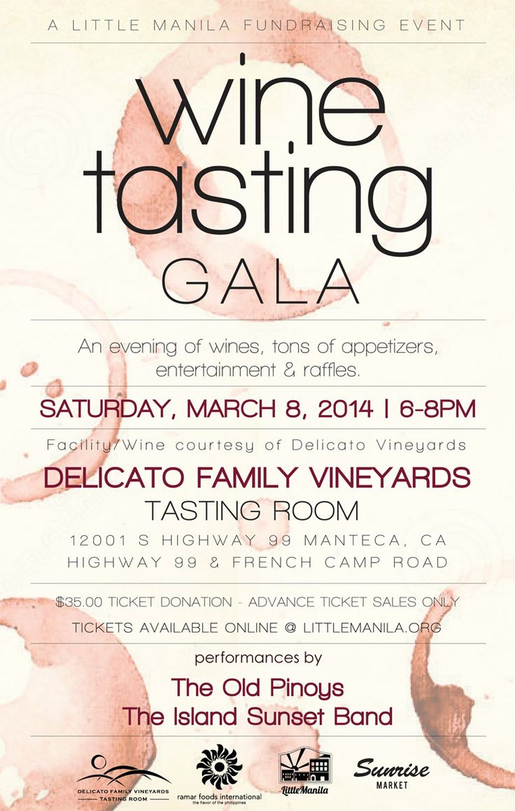 wine tasting flyers - Google Search