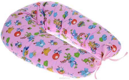 """Фэст Подушка для беременных и кормящих мам Зоопарк цвет розовый  — 974р.  Подушка для беременных и кормящих мам Фэст """"Зоопарк"""" - это удобная и практичная вещь, которая прослужит вам долгое время. Подушка имеет форму подковы. Предназначена для беременных и кормящих мам, позволяет принять удобное положение во время сна, отдыха на больших сроках беременности и кормления грудничка. При кормлении грудью подушка помогает уменьшить нагрузку на руки, плечи и шею. Для поддержания ребенка в разных…"""