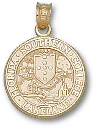 Florida Southern College Moccasins Seal Pendant - 10KT Gold Jewelry