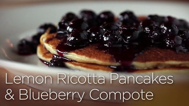 Lemon Ricotta Pancakes with Blueberry Compote by Wisconsin Cheese Talk ...