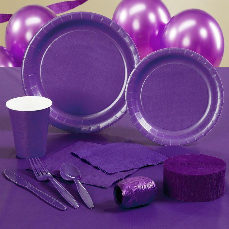 Purple Plates and Napkins
