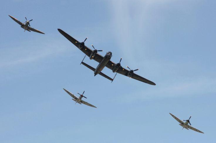 Lancaster and Spitfires