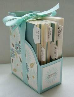 ❀ Organizador de tarjetas ... una idea chula para regalar