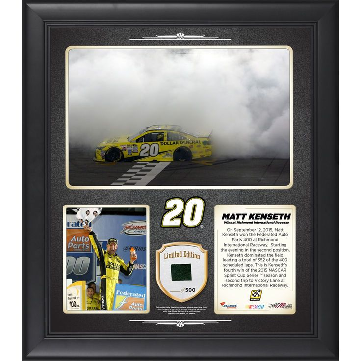 Matt Kenseth Fanatics Authentic 2015 Federated Auto Parts 400 at Richmond International Raceway Race Winner Framed 15'' x 17'' Collage With Race-Used Tire - Limited Edition of 500 - $79.99
