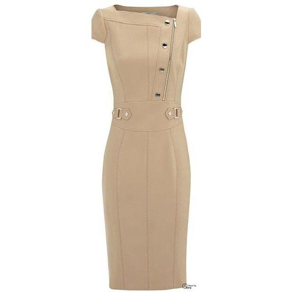 Платья в обтяжку via Polyvore featuring beige dress, karen millen dresses, maxi dresses, maxi length dresses e beige maxi dress
