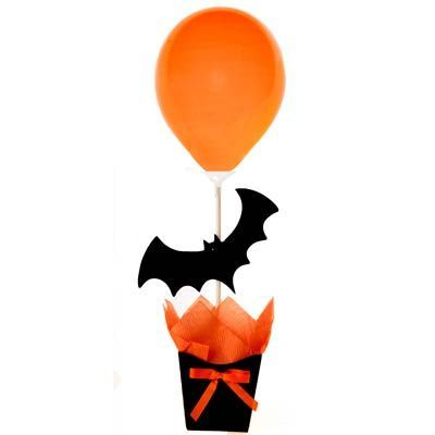 Enfeite de Mesa Vasinho Porta Balão - Halloween - Magazine 25 de Março - Artigos para Festas