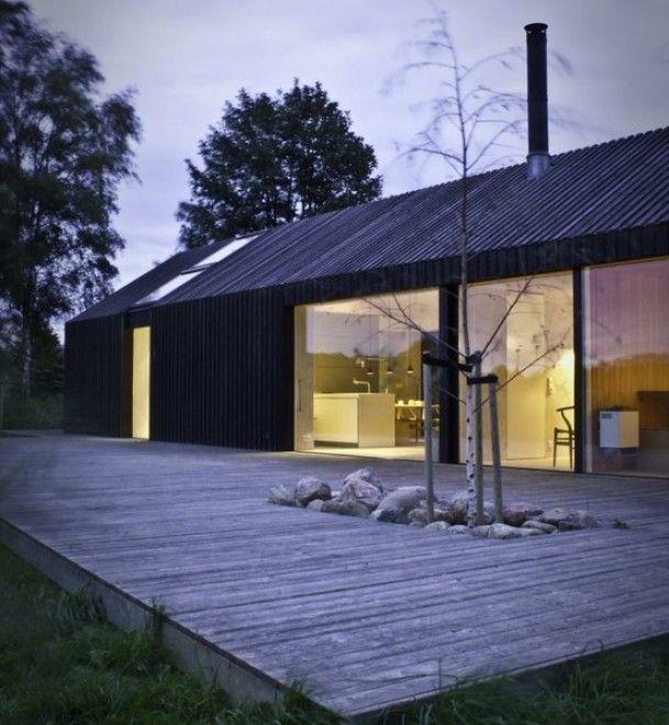 Dusk evening feeling veranda pinterest maison for Maison minimaliste plan