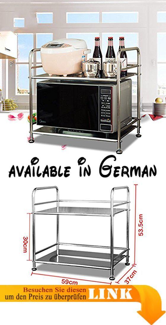 B078V22H1K  Küche Lagerung und Organisation Küche Regal Mikrowelle