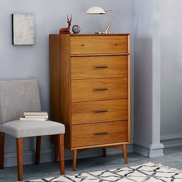 Mid-Century  5-Drawer Dresser - Narrow #westelm