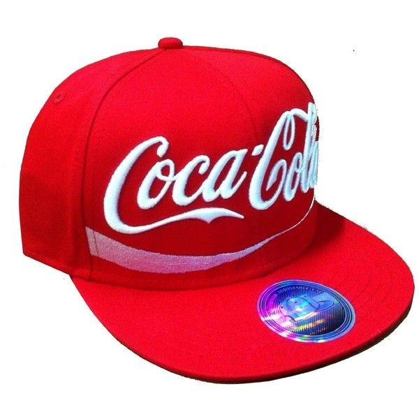 Coca Cola Classic Enjoy Coke Brand Snapback Hat Cap Red Flat Bill Soda New Zero