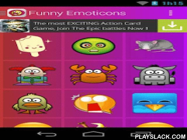 Funny Emoticons  Android App - playslack.com ,  In funny emoticons find an excellent collection of funny icons that you can share with friends, family and the love of your life. There is no better way to tell that person what you want to convey, with a emoticon, select the icon that best suits what you want to convey with funny stickers, press image and share. Features ★ Free It's application which you can download for free.★ Speed It has been fully optimized for all the application run…