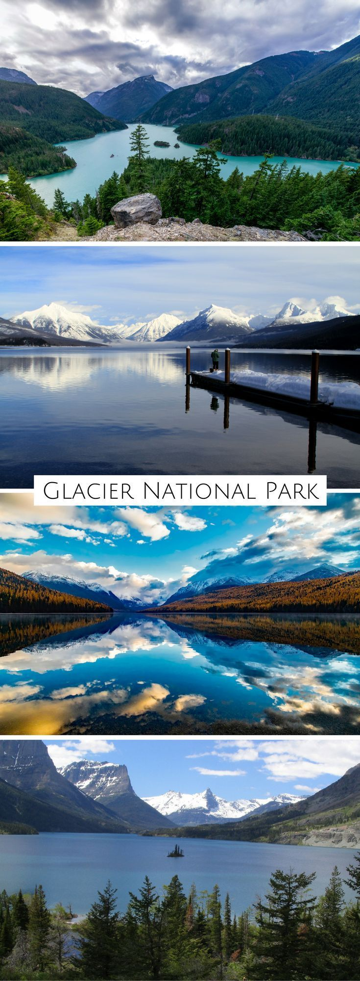 Bright blue glacial lakes, scenic drives, and more in America's Alps
