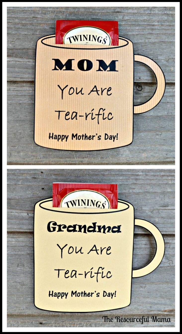 Free printable Mother's Day card for the tea loving moms and grandmas in your life.