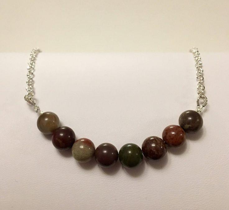 Red Jasper Gemstone Necklace https://www.etsy.com/ca/listing/576894311/red-jasper-gemstone-necklace