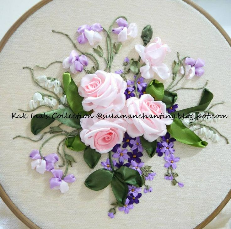 *RIBBON ART ~ embroidery